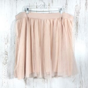 Torrid blush pink tulle mini skirt